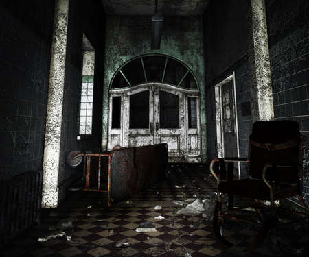 Dark Asylum interieur achtergrond
