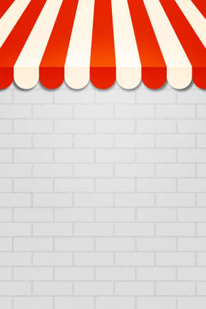 said: Red Striped Awning Backdrop