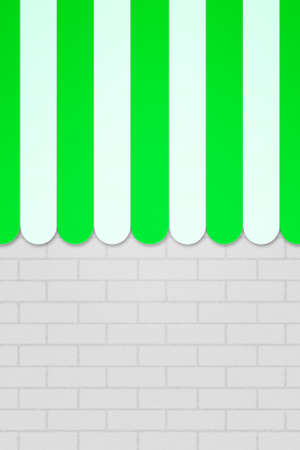 said: Green Striped Awning Backdrop