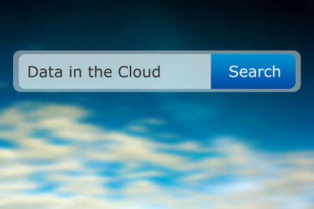 cloud search: Data in the Cloud Search Bar Image