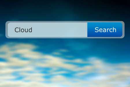 cloud search: Cloud Search Bar Image Stock Photo
