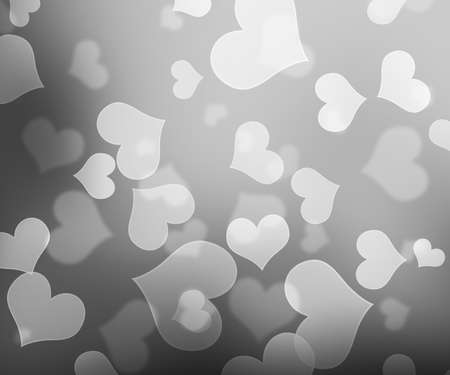 White Hearts Bokeh Background photo