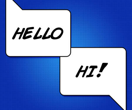 comic strip: Chat Speech Bubble Stock Photo