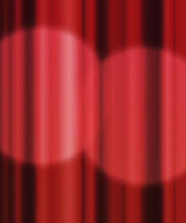 Spotlight Red Curtain Backdrop Stock Photo