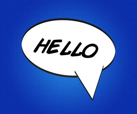 comic strip: Hello Comic Speech Bubble