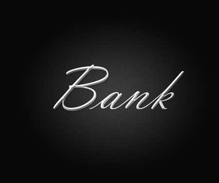 dark gray line: Bank Black Backdrop Stock Photo