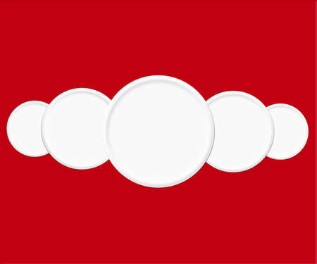 White Circles Red Background photo
