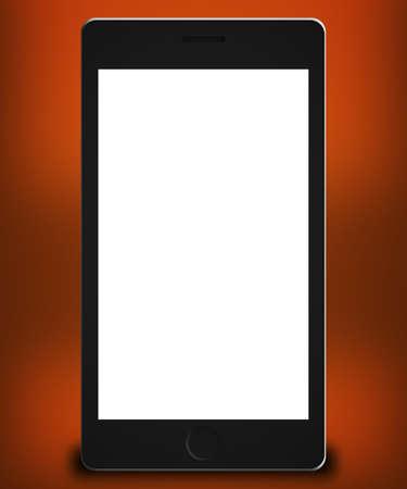 Phone Mockup Orange Backdrop photo