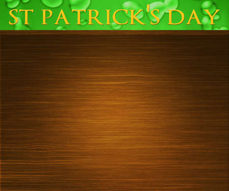 St Patricks Day Wood Background photo