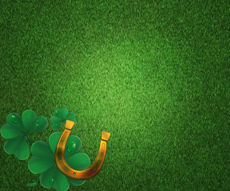 St Patricks Day Grass Background photo