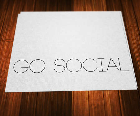 Go Social on Paper Stock Photo - 26484513