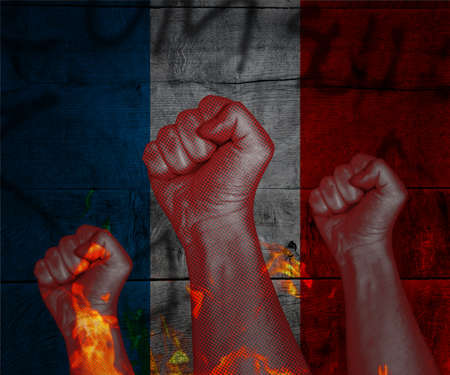 Demonstration in France Stock Photo