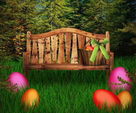 dynamic growth: Easter Premade Green Backdrop
