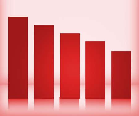 Red Bar Graph photo