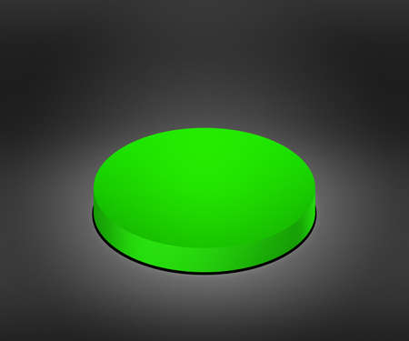 cat5: Green Button Stock Photo