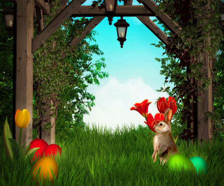 dynamic growth: Easter Premade Backdrop