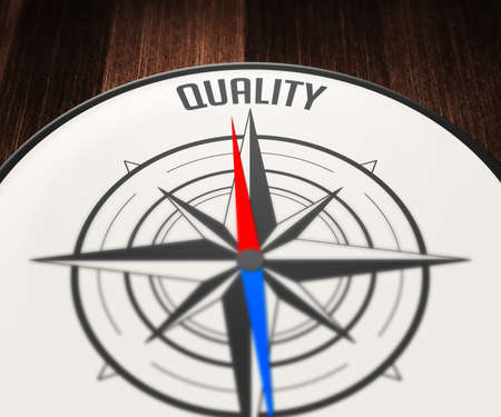 Quality Word Indicated by Compass photo