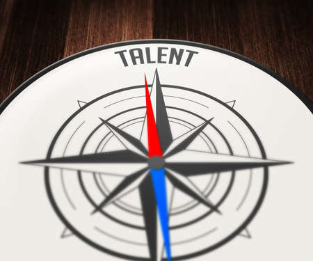 Talent Word Indicated by Compass photo