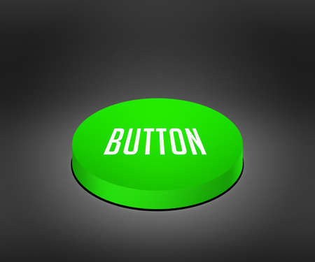 cat5: Button Green Button Stock Photo