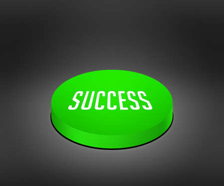 cat5: Success Green Button Stock Photo