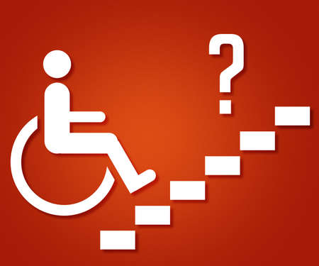 Disabled People on the Stairs photo