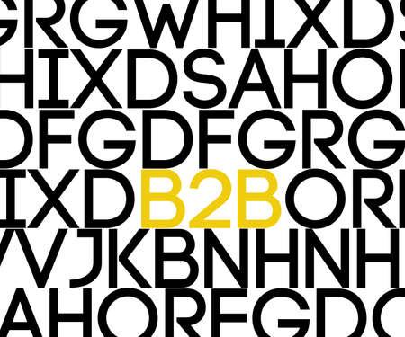 b2b: B2B en texto