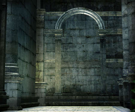 Medieval Chamber Background Stock Photo