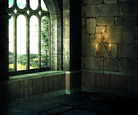 Medieval Room Background photo
