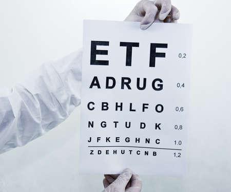 oculist: Oculist Eyesight Test Stock Photo