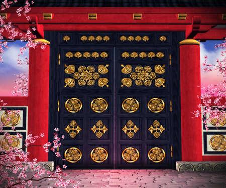 Gate Asian Backdrop photo