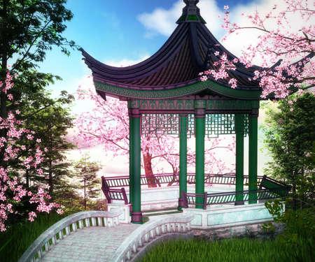 Bower Asian Backdrop photo