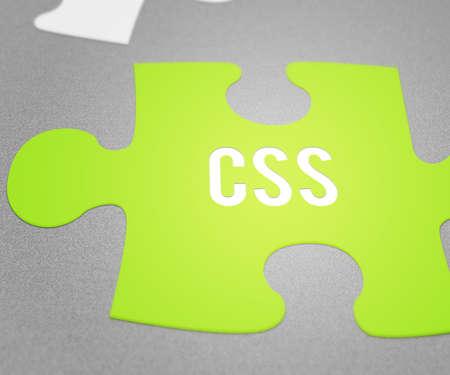 CSS Puzzle Stock Photo - 28964823