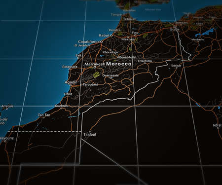 marocco: Marocco on Map