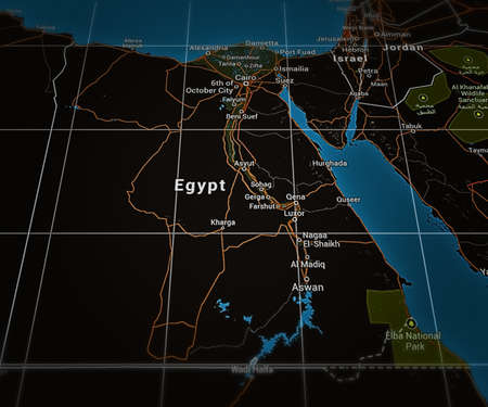 Egypt on Map photo