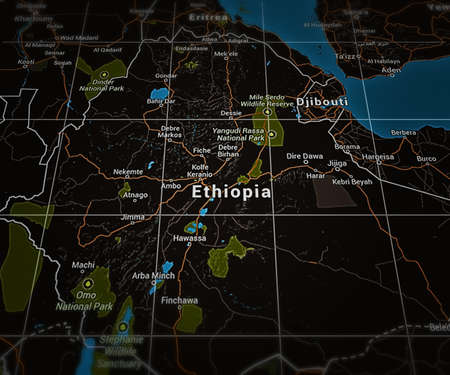 Ethiopia on Map photo