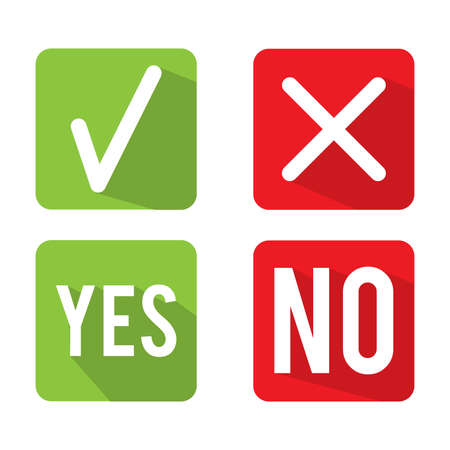 yes or no: Yes No Check Box  Illustration