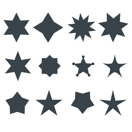 star award: Stars Vector Shapes Set