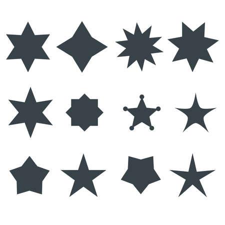 gestalten: Sterne Vektorformen Set Illustration