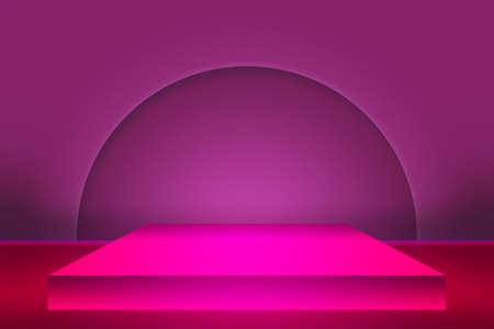 show room: Violet Show Room Backdrop