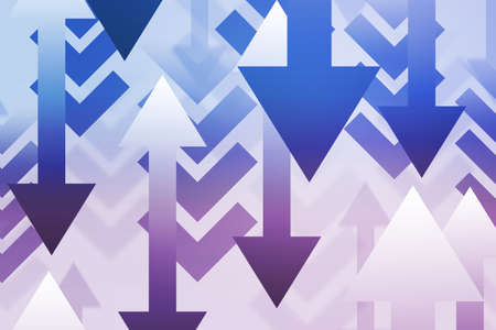 Down Arrows Abstract Background Stock Photo