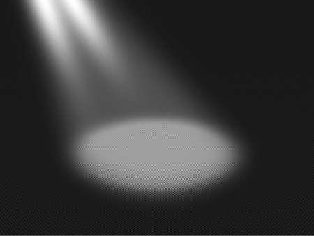 shiny black: Spotlight Circle on Floor Background