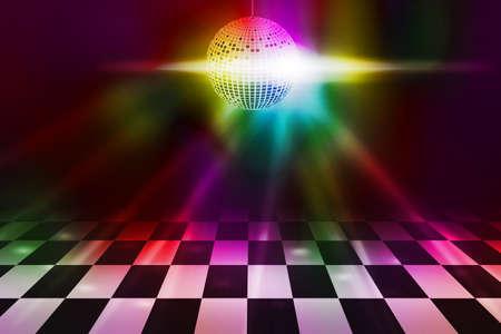 Disco Party Dance Floor Background Banque d'images