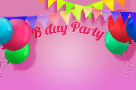 Birthday Party Background Stock Photo