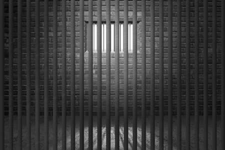 cellule prison: Cellule de prison Bars fond