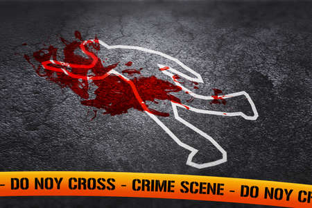 crime scene: Murderer Crime Scene Image
