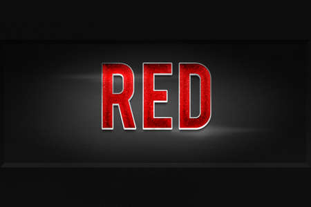 eslogan: Texto Lema roja Foto de archivo
