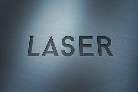 headline: Laser Headline Sign Stock Photo