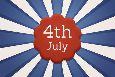 fourth of july: Retro July Fourth USA