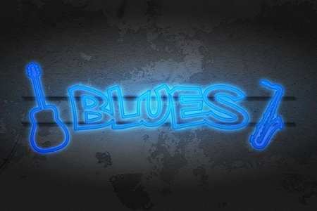 limelight: Blues Neon Music Image