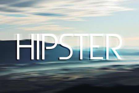 slogan: Hipster Slogan Text Stock Photo